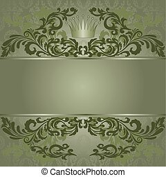 Green vintage background - vintage green background with...