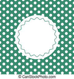 Green vintage background with dots