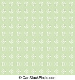 Green vintage flower pattern