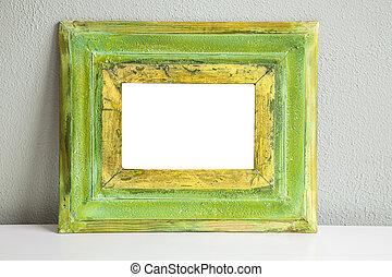 Green vintage mockup frame