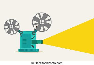 green vintage movie projector super 8