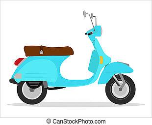 green vintage scooter