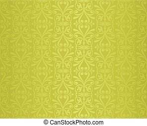 green vintage wallpaper design background