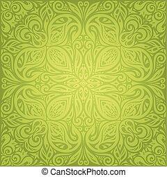 Green vintage wallpaper vector design backround - Green...