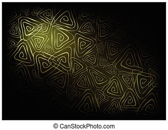 Green Vintage Wallpaper with Triangle Spiral Pattern Background