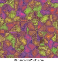 Green, violet seamless circuit board