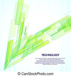 Green virtual technology objects with space for business message