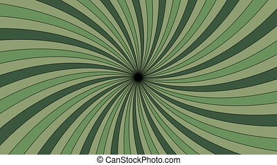 Rotating vortex with green stripes