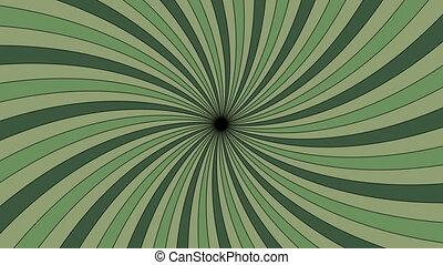 Green vortex - Rotating vortex with green stripes