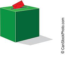 green voting box