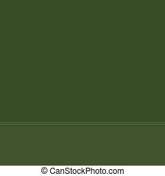Dark green wall and floor, wall with baseboard molding, part of the interior, vector illustration