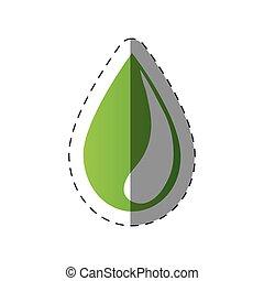green water drop environment design