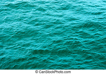 Green water surface of the sea
