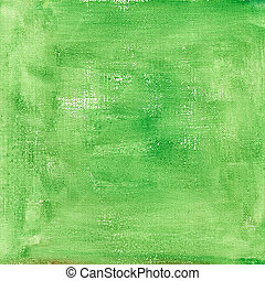 green  watercolor abstract with canvas texture