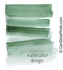 Green watercolor background for your design