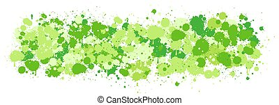 Green watercolor splash on white background