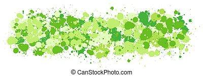 Green watercolor splash on white background