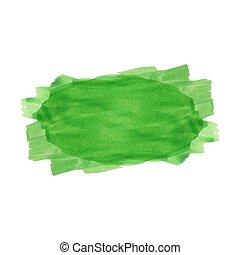 Green watercolor stripe