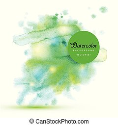 Abstract art background with green spiral - concentric