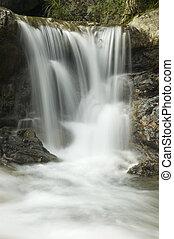 waterfall - green waterfall in huang san , china