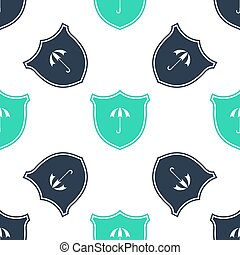 Green Waterproof icon isolated seamless pattern on white ...