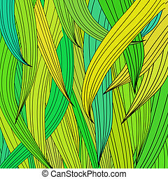 Abstract Green Wave Pattern