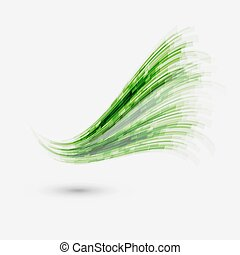 Green wave element for design