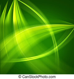 Green wave light abstract