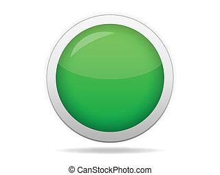 Green web button - Green blank web button