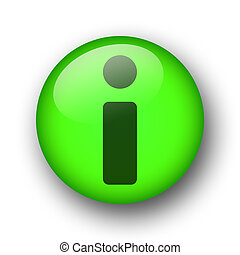 green web information button