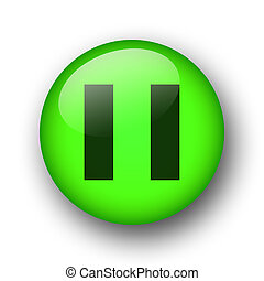 green web button