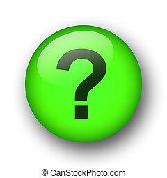 green web question button