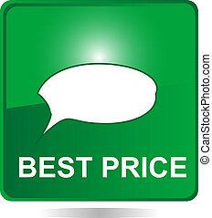 green web button with best price
