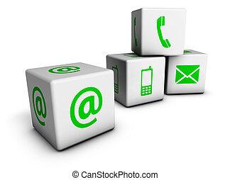 Green Web Contact Us Cubes