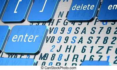 Green webinar button on keyboard