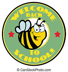 Green Welcome Back To School Bee