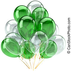 Green white party balloons classic - Party balloons green...