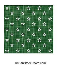 Green white star pattern