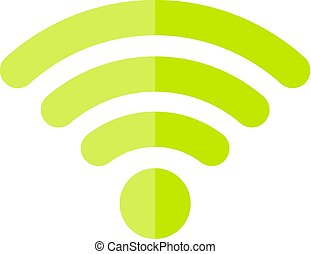Green wifi icon