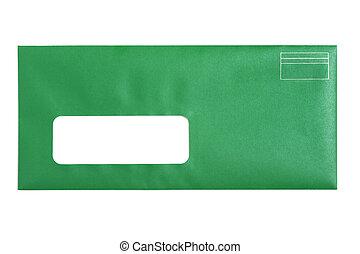 Green Window Envelope