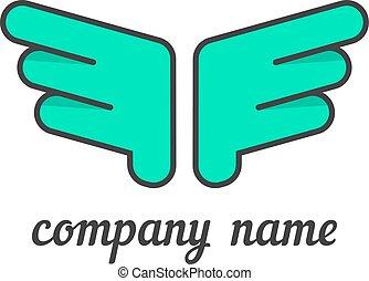 green wings like company branding
