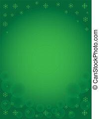 Winter Snowflake Holiday Template - Green Winter Snowflake...