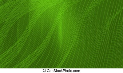 Green wire frame lattice abstract animated CG background -...