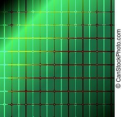 Green with light, abstract pattern
