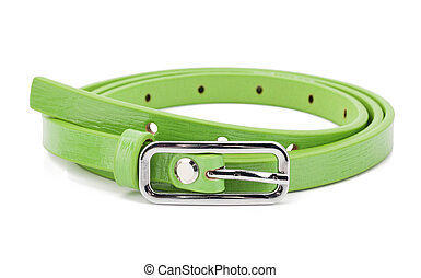 Green woman belt isolated on white background