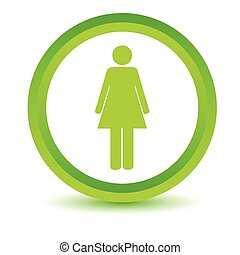 Green woman icon