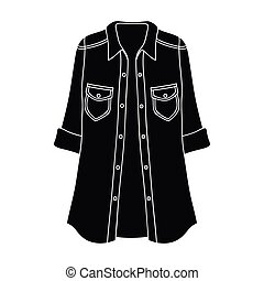 Green Women s jacket with buttons and short sleeves. Casual wear for the stylish woman. Women clothing single icon in black style vector symbol stock illustration.