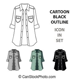 Green Women's jacket with buttons and short sleeves. Casual wear for the stylish woman.Women clothing single icon in cartoon style vector symbol stock illustration.