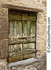 Green Wood Cellar Door