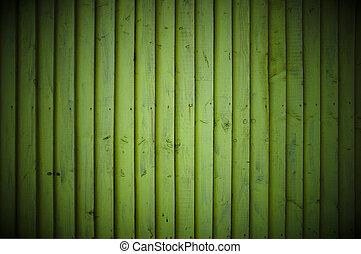 Green wood wall